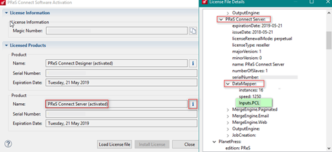 Using advanced PCL to PDF options